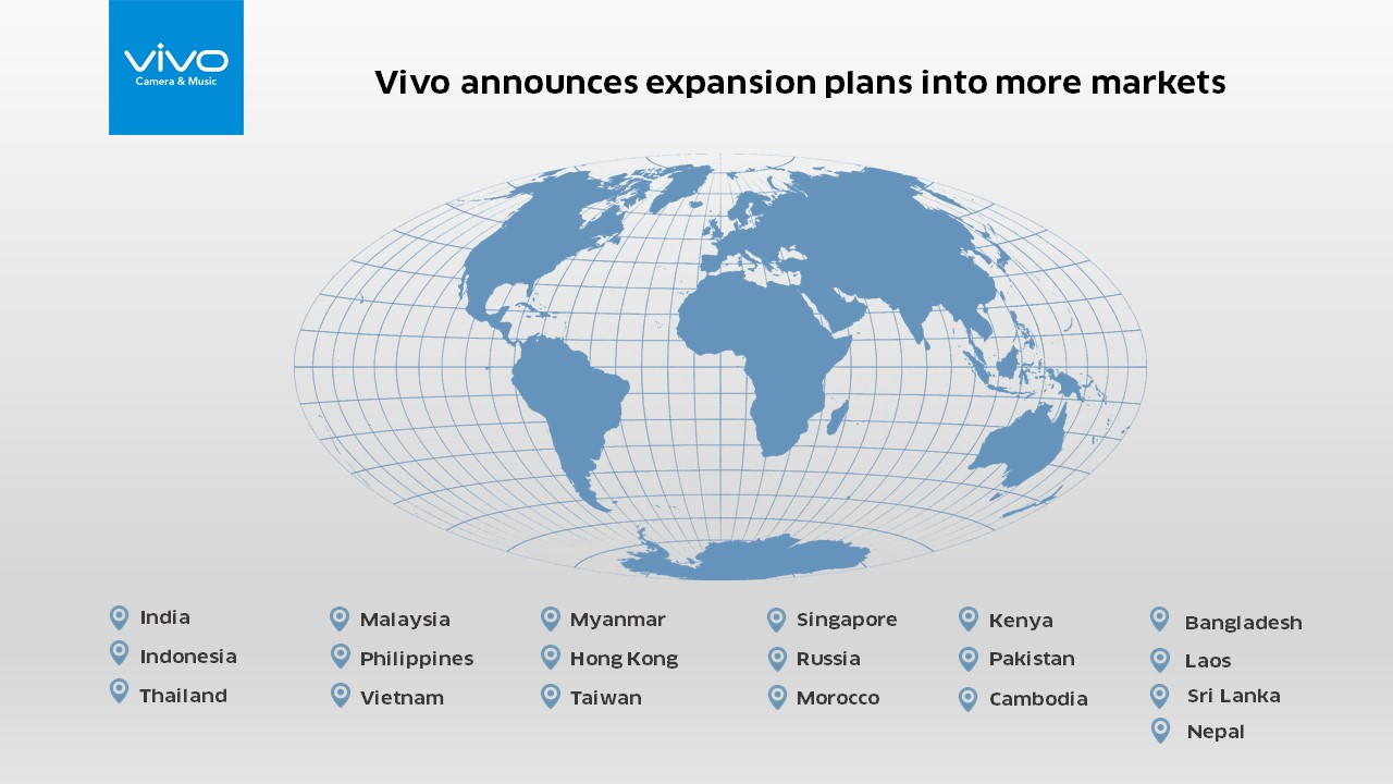 Vivo Announces Expansion Plan into More Global Markets