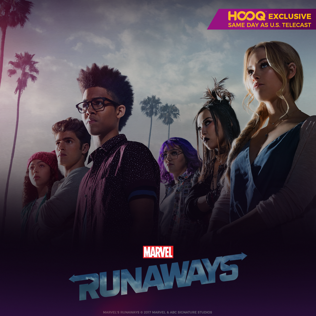 Escape with MARVEL'S RUNAWAY the same day as US Telecast with HOOQ