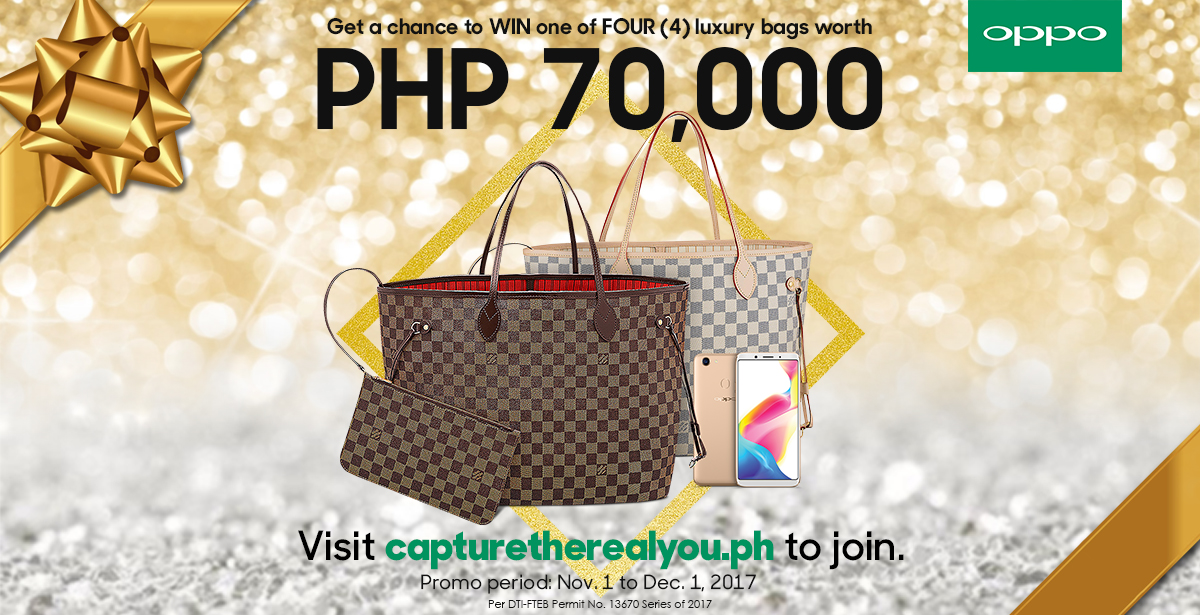 OPPO Giveaway Alert: Get a chance to win a luxury bag worth Php70K when you purchase a brand new OPPO F5