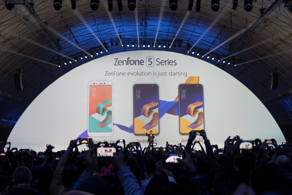 ASUS CEO, Jerry Shen, unveils the latest generation of intelligent phones, the ZenFone 5 series:  The ZenFone 5 Lite (to be named ZenFone 5Q in Philippines), ZenFone 5 and ZenFone 5Z.