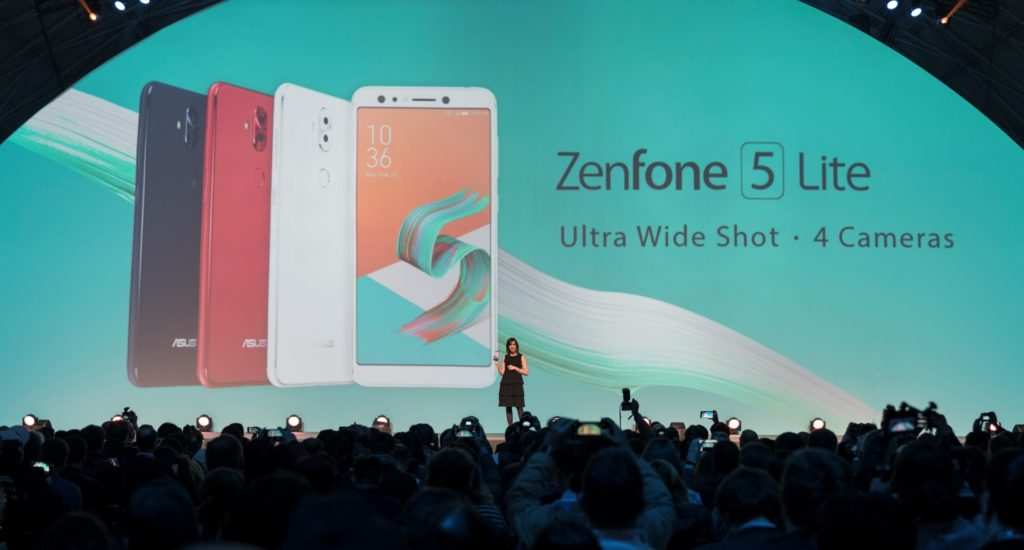 ASUS South East Europe Territory Manager, Daniela Idi, announces in the ZenFone 5 Lite (ZenFone 5Q locally) with the reveal of the world's first true, independent quad-camera system