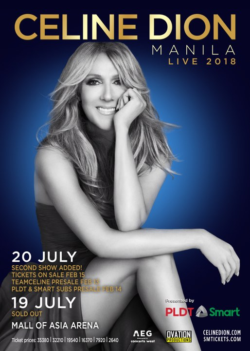 CELINE DION SOLD OUT. 2nd SHOW ADDED