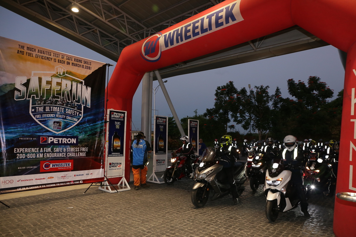 Petron SafeRun promotes riding safety ,fuel efficiency