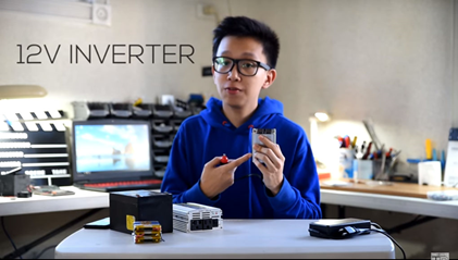 A 19-year old student builds a power bank