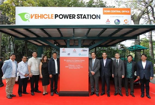 Mitsubishi Motors, Meralco unveil EV charging station