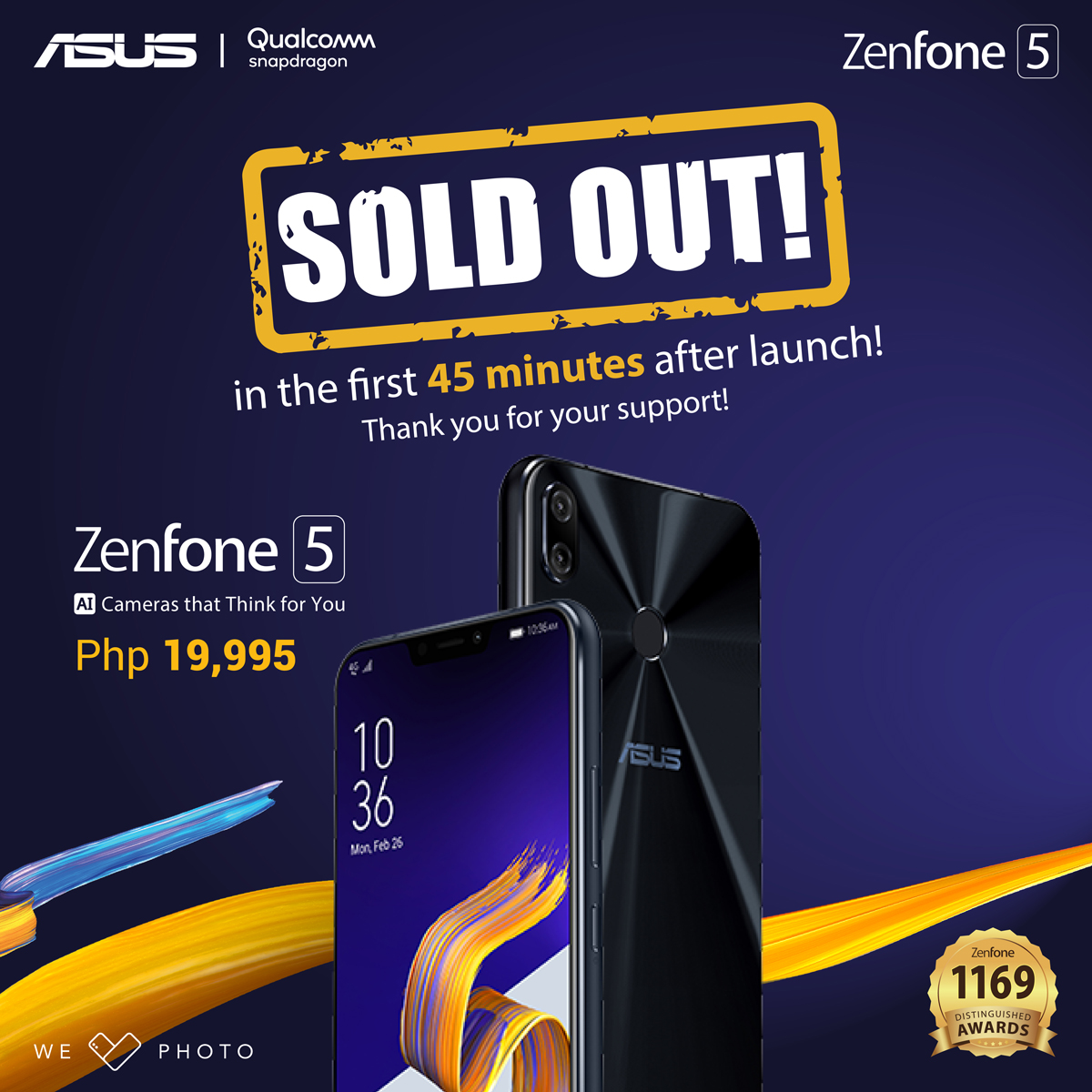 ZENFONE 5 GETS SOLD OUT IN JUST 45 MINUTES!