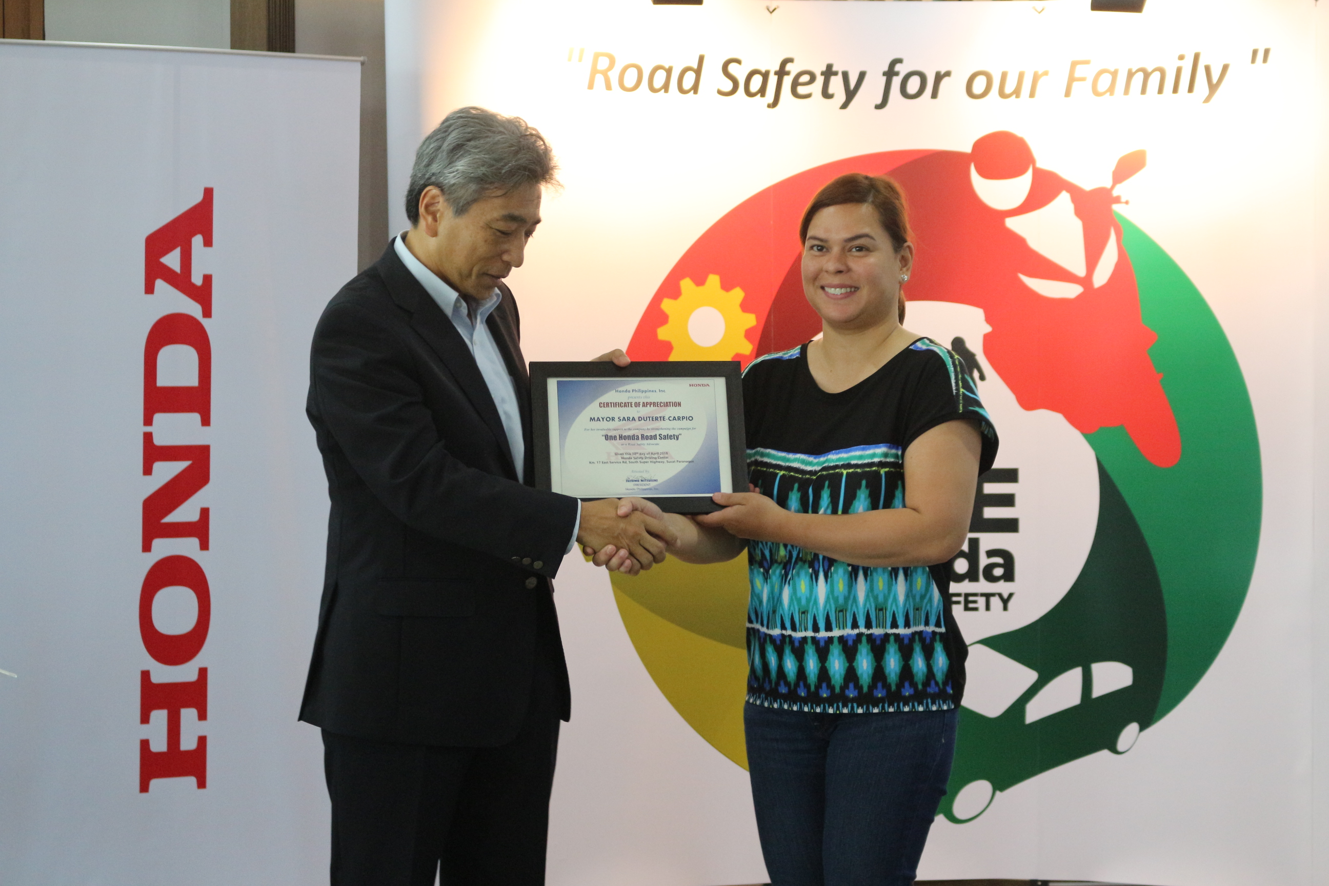 Sarah Duterte supports Honda's Road Safety Advocacy
