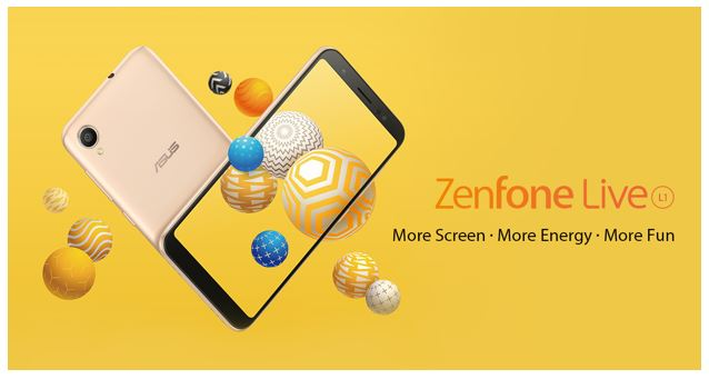 ASUS ROLLS OUT THE NEW  ZENFONE LIVE L1