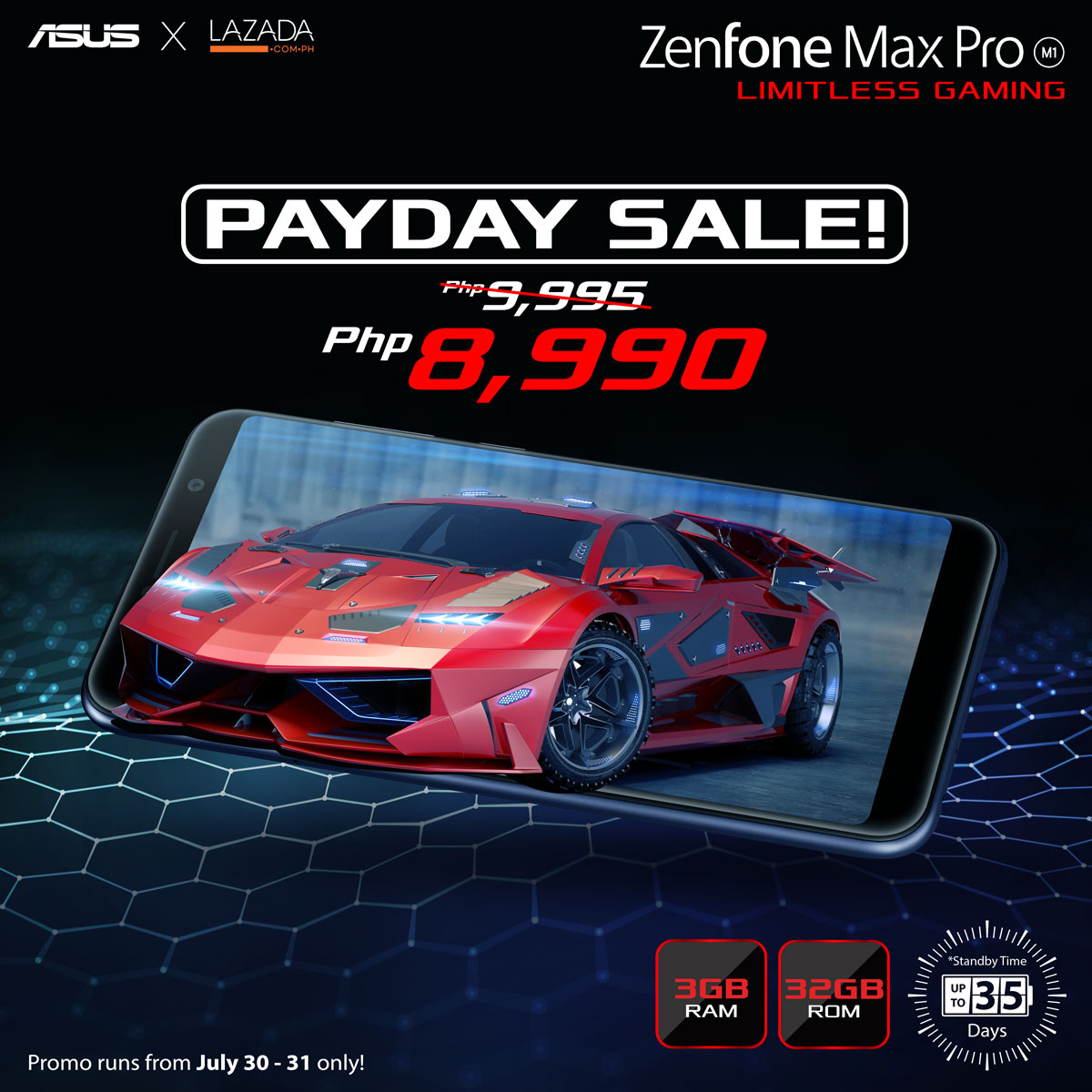 ZenFone Max Pro 3GB for PHP 8,990