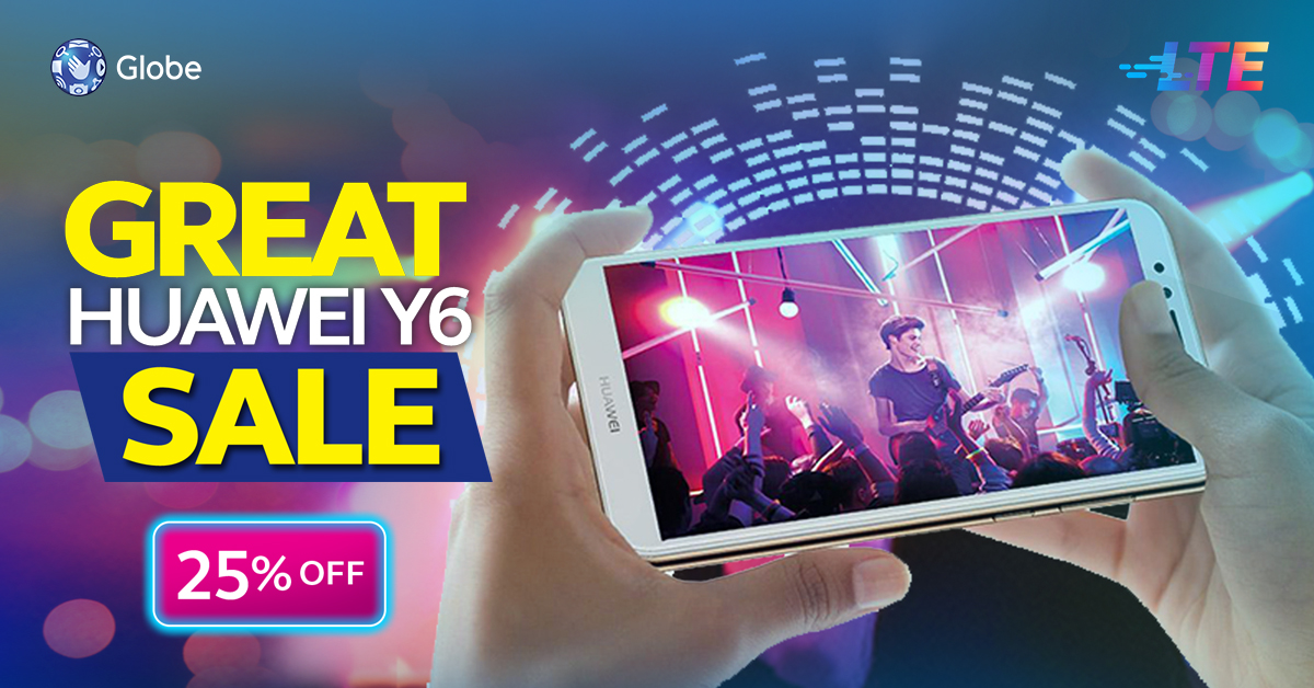 Upgrade to the Huawei Y6 2018 Smartphone 25% Off!