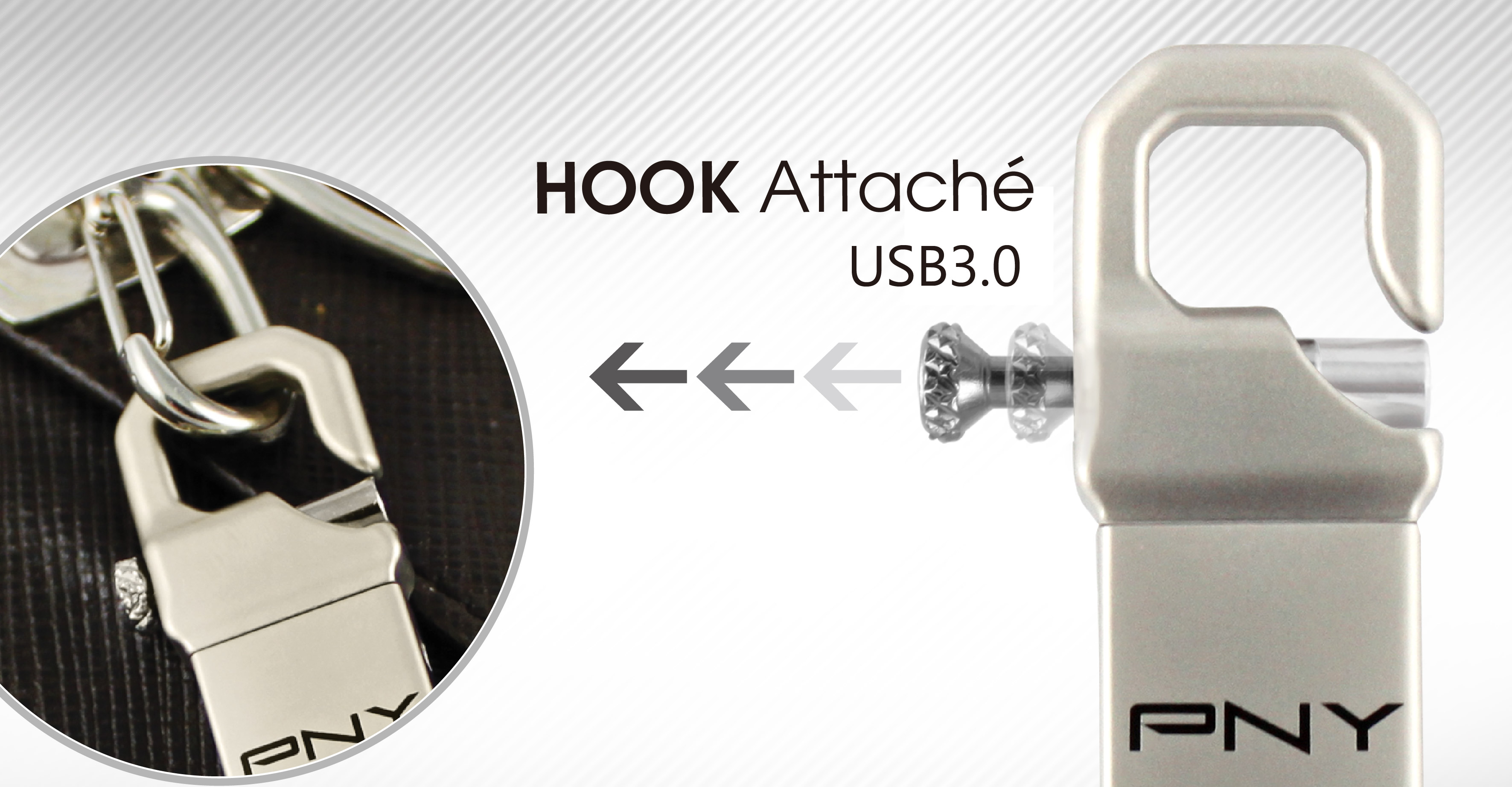 PNY releases USB Drive 3.0 the Hook Attaché