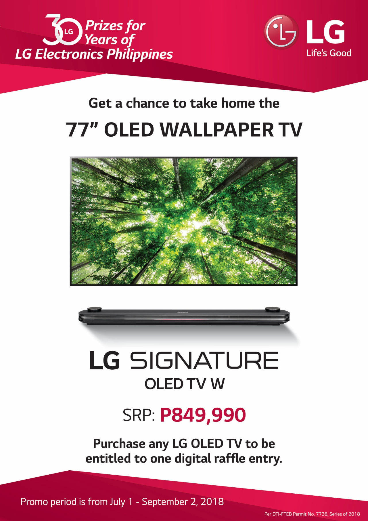 Get the chance to win an LG OLED W8 Wallpaper TV