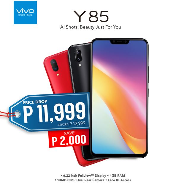 Get the notched beauty of Vivo Y85 for Php11,999