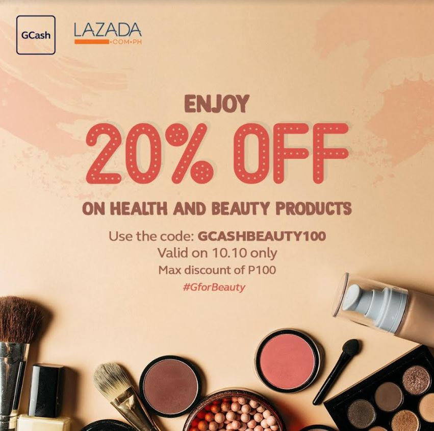 GCash Offers Up to 20% Off @ Lazada Beauty Day - TechBeatph com