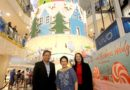 30 ft. Christmas Candy Cake is unveiled in Greenhills