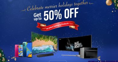 Samsung discounts up to 50% Lazada's Year End Sale