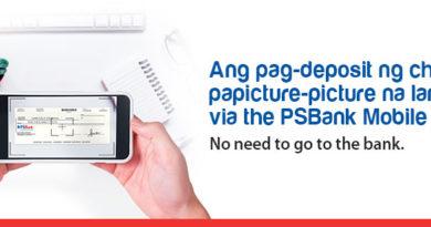 Now Available: Deposit Checks Via PSBank Mobile App
