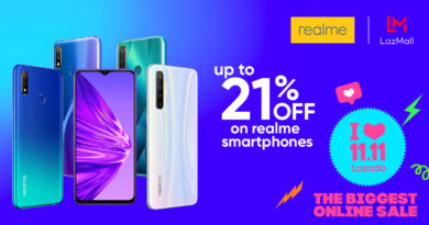 Realme Philippines offers up to 21% discount on Lazada's grand 11.11 sale