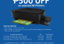 Enjoy P500 savings when you buy HP Ink Tank printers