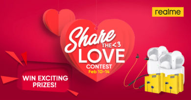 realme invites fans to #ShareTheLovein its Valentine's Day Promo