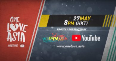 "WEBTVASIA AND YOUTUBE ANNOUNCED ""ONE LOVE ASIA"""