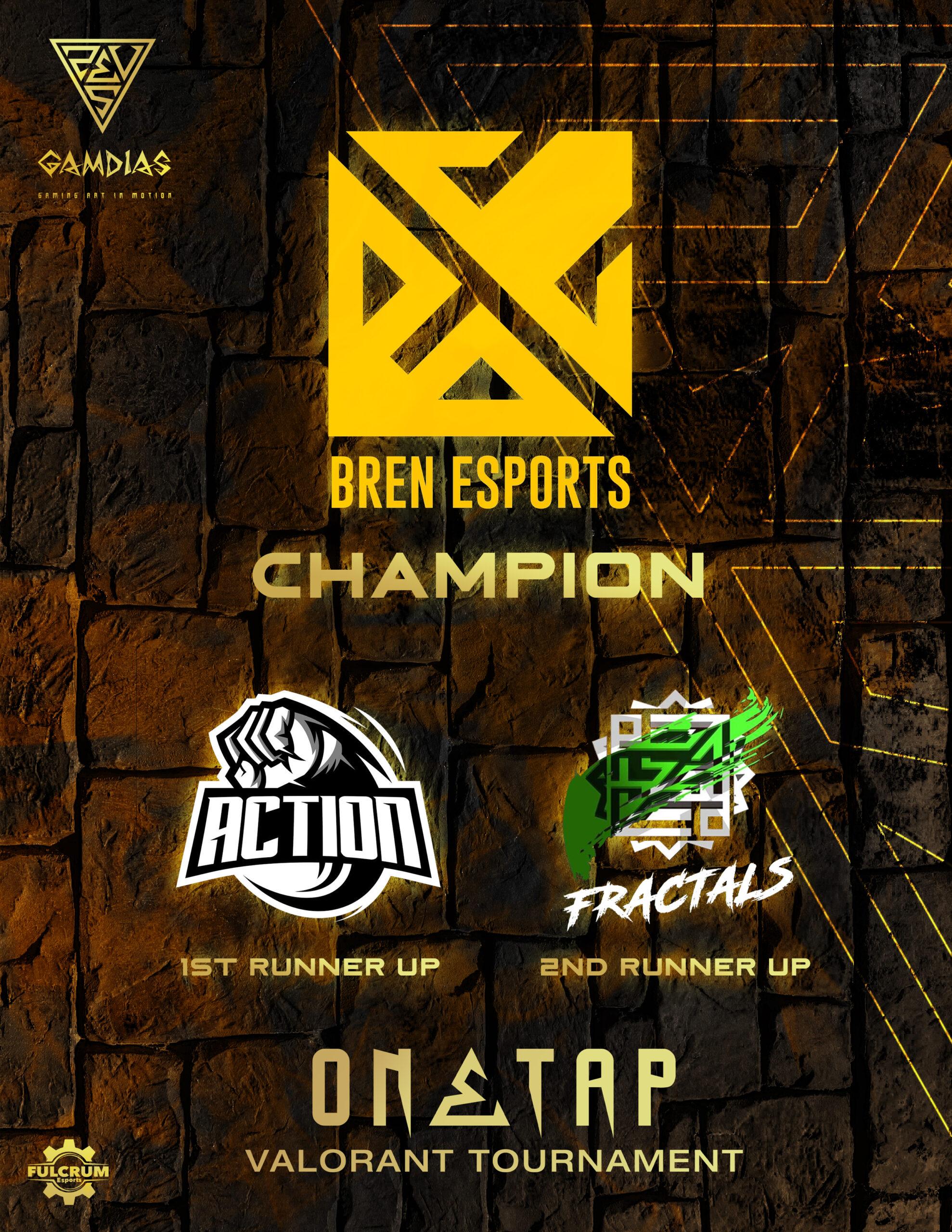 Bren Esports Wins the Gamdias One Tap Tournament